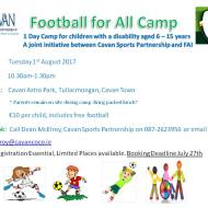 Football for All Camp Poster