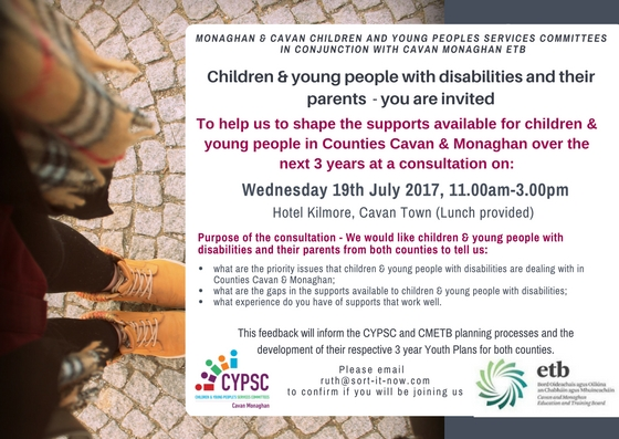 Invite for young people with disabilities consultation (1)